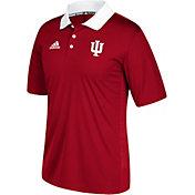 adidas Men's Indiana Hoosiers Crimson Sideline Coaches Polo