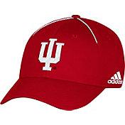 adidas Men's Indiana Hoosiers Crimson Sideline Coaches Structured Flex Hat