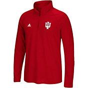 adidas Men's Indiana Hoosiers Crimson Logo Long Sleeve Quarter-Zip Shirt