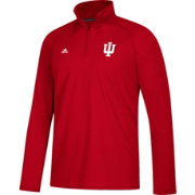 adidas Men's Indiana Hoosiers Crimson Long Sleeve Performance Quarter-Zip Shirt