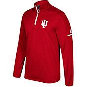 adidas Men's Indiana Hoosiers Crimson Sideline Long Sleeve Quarter-Zip Shirt