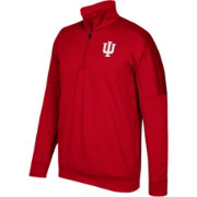 adidas Men's Indiana Hoosiers Crimson Team Issue Basketball Quarter-Zip Fleece