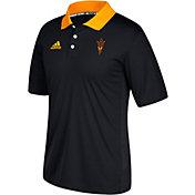 adidas Men's Arizona State Sun Devils Black Sideline Coaches Polo