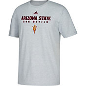 adidas Men's Arizona State Sun Devils Grey Cotton T-Shirt