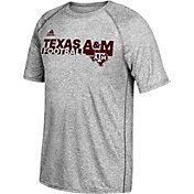 adidas Men's Texas A&M Aggies Grey Sideline Grind Ultimate T-Shirt