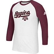 adidas Men's Texas A&M Aggies Go-To Three-Quarter Performance White T-Shirt