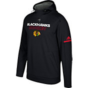 adidas Men's Chicago Blackhawks Authentic Pro Player Black Performance Pullover Hoodie