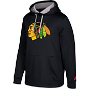 adidas Men's Chicago Blackhawks Black Performance Pullover Hoodie