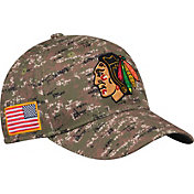 adidas Men's Chicago Blackhawks Camo Structured Fitted Flex Hat