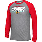 adidas Men's Chicago Blackhawks Dassler Local Ultimate Grey/Red Performance Long Sleeve Shirt