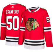 adidas Men's Chicago Blackhawks Corey Crawford #50 Authentic Pro Home Jersey