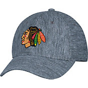 adidas Men's Chicago Blackhawks Structured Heather Grey Flex Hat