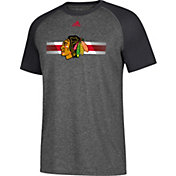 adidas Men's Chicago Blackhawks Resurface Ultimate Grey Performance T-Shirt
