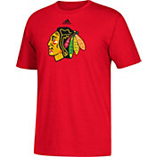 adidas Men's Chicago Blackhawks Big Logo Red T-Shirt
