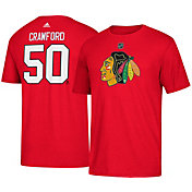 adidas Men's Chicago Blackhawks Corey Crawford #50 Red T-Shirt