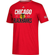 adidas Men's Chicago Blackhawks Centennial Lining Red Performance T-Shirt