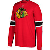 adidas Men's Chicago Blackhawks Jersey Red Long Sleeve Shirt