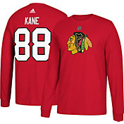 adidas Men's Chicago Blackhawks Patrick Kane #88 Red Long Sleeve Shirt