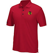adidas Men's Chicago Blackhawks Red Performance Polo