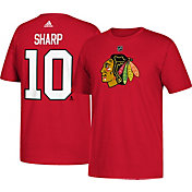 adidas Men's Chicago Blackhawks Patrick Sharp #10 Red T-Shirt