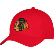 adidas Men's Chicago Blackhawks Team Colored Basic Structured Red Flex Hat