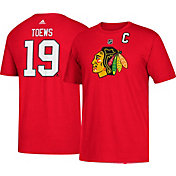 adidas Men's Chicago Blackhawks Jonathan Toews #19 Red T-Shirt
