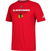 adidas Men's Chicago Blackhawks Authentic Ice Ultimate Red Performance T-Shirt