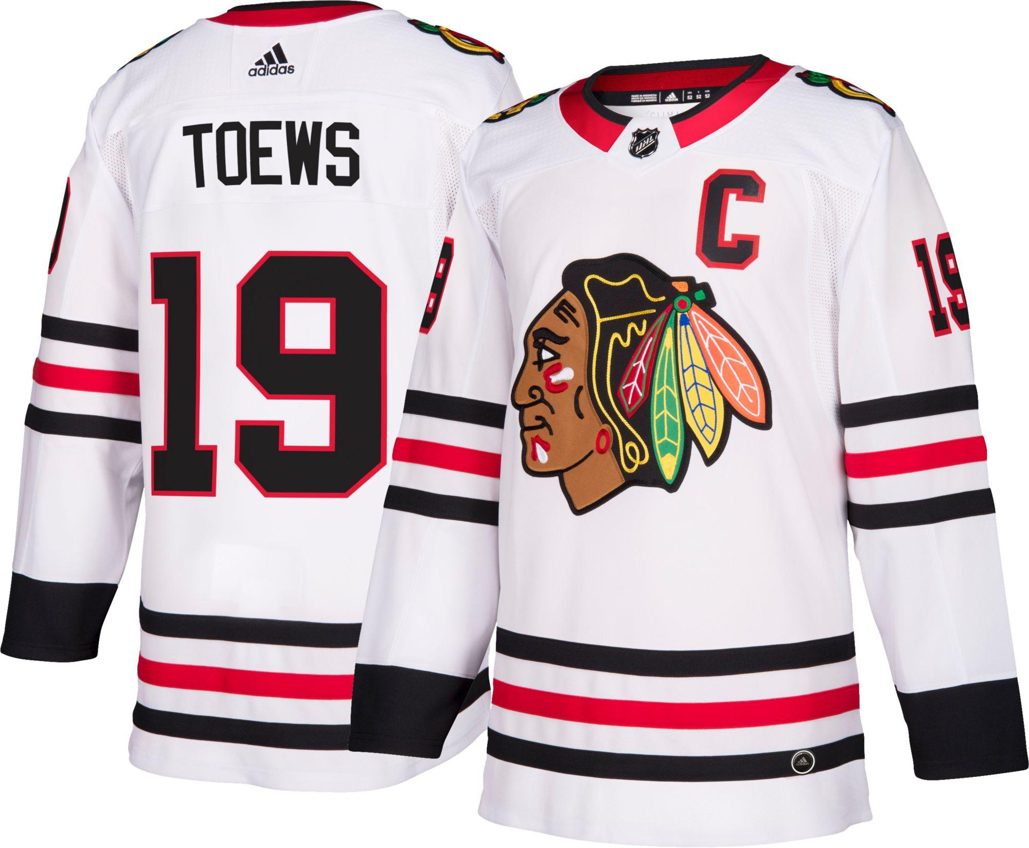 adidas uomini chicago blackhawks jonathan toews 19 autentico pro