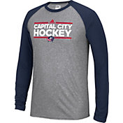 adidas Men's Columbus Blue Jackets Dassler Local Ultimate Grey/Navy Performance Long Sleeve Shirt