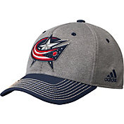 adidas Men's Columbus Blue Jackets Two-Color Heather Grey/Navy Snapback Adjustable Hat