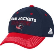 adidas Men's Columbus Blue Jackets Locker Room Navy Structured Fitted Flex Hat