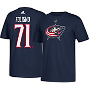 adidas Men's Columbus Blue Jackets Nick Foligno #71 Navy T-Shirt