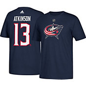 adidas Men's Columbus Blue Jackets Cam Atkinson #13 Navy T-Shirt
