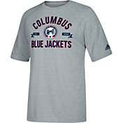 adidas Men's Columbus Blue Jackets Misconduct Performance Heather Grey T-Shirt
