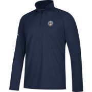adidas Men's Columbus Blue Jackets Secondary Logo Ultimate Navy Performance Quarter-Zip Pullover