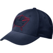 adidas Men's Columbus Blue Jackets Tonal Structured Navy Flex Hat