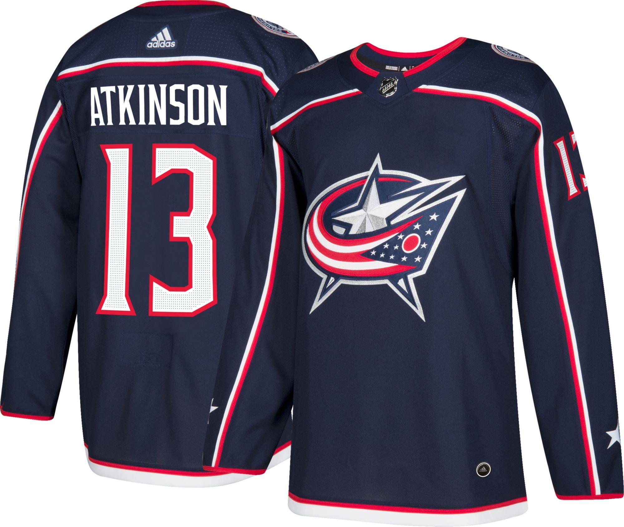 Adidas hombre 's Columbus AZUL Jackets Cam Atkinson 13 Authentic pro