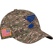 adidas Men's St. Louis Blues Camo Structured Fitted Flex Hat