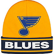 adidas Men's St. Louis Blues Logo Gold Knit Beanie