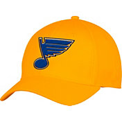 adidas Men's St. Louis Blues Alternate Colored Basic Structured Gold Flex Hat