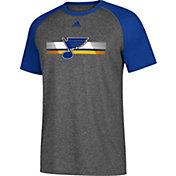 adidas Men's St. Louis Blues Resurface Ultimate Grey Performance T-Shirt