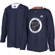 adidas Men's St. Louis Blues Authentic Pro Blue Practice Jersey