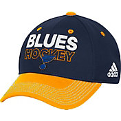 adidas Men's St. Louis Blues Locker Room Navy Structured Fitted Flex Hat