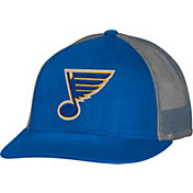 CCM Men's St. Louis Blues Trucker Royal Mesh Adjustable Hat