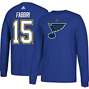 adidas Men's St. Louis Blues Robby Fabbri #15 Royal Long Sleeve Shirt