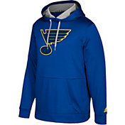 adidas Men's St. Louis Blues Royal Performance Pullover Hoodie