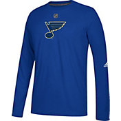 adidas Men's St. Louis Blues Primary Position Ultimate Royal Long Sleeve Shirt