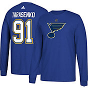 adidas Men's St. Louis Blues Vladimir Tarasenko #91 Royal Long Sleeve Shirt