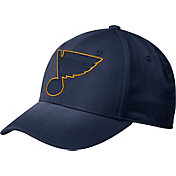 adidas Men's St. Louis Blues Tonal Structured Navy Flex Hat