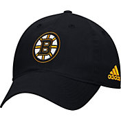 adidas Men's Boston Bruins Basic Black Slouch Adjustable Hat